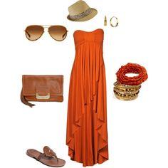 orangey summer love, created by kolleen-harrison.polyvore.com