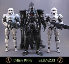 This Darth Vader is super scary and his stormtroopers totally badass!