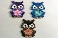Cute Retro Perler Owls by SkellieBeads