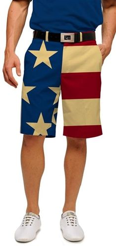 Old Glory Mens Made to Order Shorts by Loudmouth Golf.  Buy it @ ReadyGolf.com