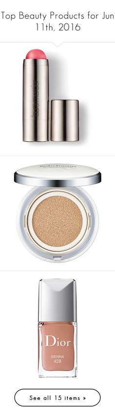 """""""Top Beauty Products for Jun 11th, 2016"""" by polyvore ❤ liked on Polyvore featuring beauty products, makeup, cheek makeup, blush, laura mercier, laura mercier blush, gel blush, face makeup, foundation and spf foundation"""