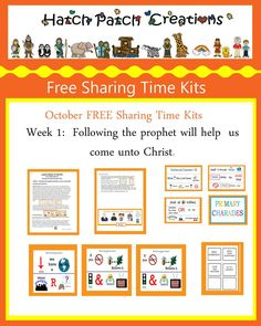 Free Stuff | Family Home Evening made easy!|Hatch Patch Creations October 2015 Week One Sharing
