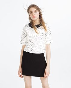 ZARA - NEW IN - TOP WITH PETER PAN COLLAR