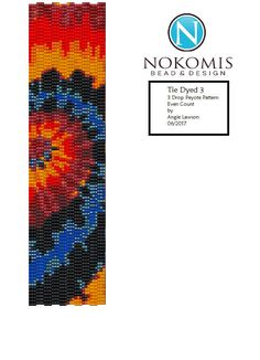 Even Count 3 Drop Peyote Stitch Bracelet Pattern Digital Download - Tie Dye 3 by NokomisBeadAndDesign on Etsy