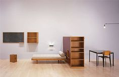 "Charlotte Perriand : Furniture for a room at ""Brazilian Pavillion"", Cite Unniversitaire, Paris"