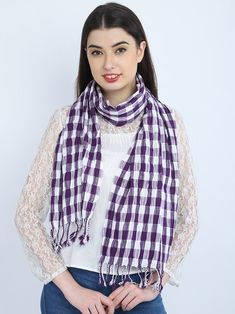 Purple Checks Bridesmaid Evening Wrap Indian Cotton Long Scarf | Etsy Bridesmaid Shawl, Evening Shawls, Cotton Scarf, Long Scarf, Square Scarf, Womens Scarves, Party Wear, Plaid Scarf, Trending Outfits