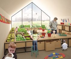 Nursery Fields Forever, urban farming preschool, AWR International Ideas Competition winner, urban farming in education,