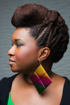 We love this natural hairstyle. #updos #naturalhairrocks