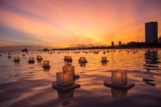 lantern floating hawaii memorial day a l o h a pinterest