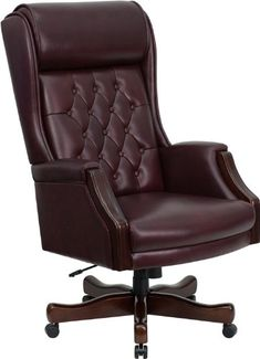 this tufted high back executive office chair combines old world with 21st century ergonomic seating