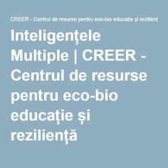 Inteligențele Multiple   CREER - Centrul de resurse pentru eco-bio educație și reziliență