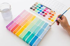 Follow this tutorial to create a bright watercolor notebook.