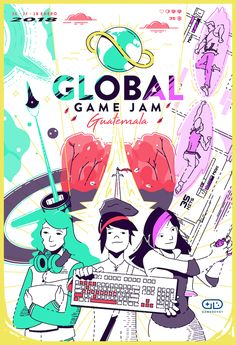 Poster showcase 2018 | Global Game Jam® Poster Creator, Games, Creative, Anime, Social Media, Image, Design, Gaming
