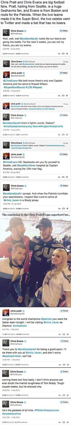 Chris Evans And Chris Pratt's Superbowl Bet And What They Did After The Superbowl – 12 Pics