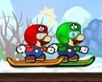 Em Mario Skiing Stars, Luigi desafio Mario em uma partida de snow ski e para vencer Mario precisa de sua ajuda. Ajude Mario controlar seu esqui e vencer Luigi neste desafio. Divirta-se com Mario!