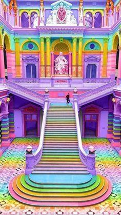 Rainbow House, Rainbow Art, Rainbow Colors, Rainbow Stuff, Rainbow Things, Rainbow Drawing, Rainbow Unicorn, Girl Bedroom Designs, Girls Bedroom
