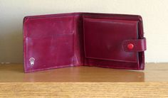 Montres Rolex S.A. Geneva Swiss Ruby Red Leather Bifold Wallet Code 56.85.03- Very Unique by ProVintageGear on Etsy