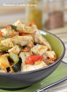 Bocconcini di pollo al curry
