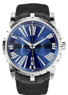 Presented at the SIHH 2013, the Excalibur 42 collection by Roger Dubuis includes three models: tourbillon skeleton, automatic and chronograph. Focus on the blue chronograph.
