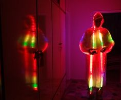 The LED Strip Jellyfish Costume with Arduino & LPD8806 Led Strips