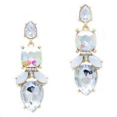 Teardrop Crystal Earring $24
