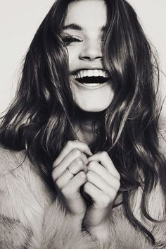 portrait, black and white, smile, laugh, photography, girl,