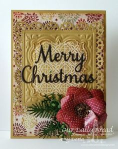 Our Daily Bread Designs Paper Collection:Christmas 2015,Our Daily Bread Designs Custom Dies: Merry Christmas, Pinecones, Lovely Leaves, Layered Lacey Squares