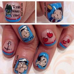 Pin for Later: 20 Cartoon-Inspired Nail Art Looks That Will Make You Feel Nostalgic Nails That Pop