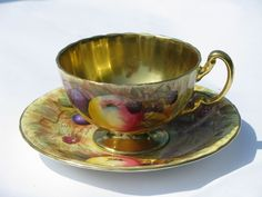 Aynsley gold orchard fruit pattern English bone china