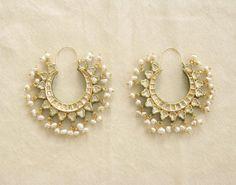 Kundan and pearls bali