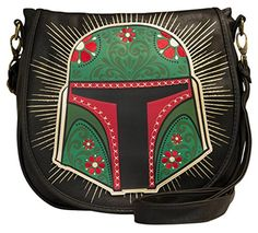 Women's Shoulder Bags - Loungefly Star Wars Boba Fett Green  Black Cross Body * See this great product.