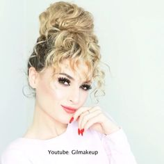 - Fake Bangs for Curly Hair by @gilmakeup - LIKE if you want to try this look!