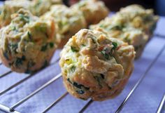Mmm...savory spinach and cheese muffins. Mmm.