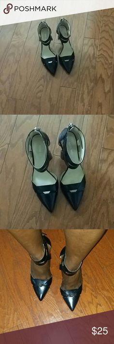Nine West  Ankle Pumps Just like new, only worn twice, 3 inch heels Nine West Shoes Heels
