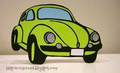 Free svg file of Beetle car card