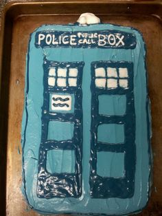 Tardis birthday cake I made for myself a while back