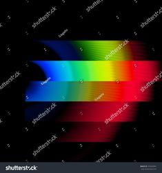 Bands of Color Spectrum Waves