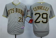 Men's Pittsburgh Pirates #29 Francisco Cervelli Gray Cool Base Jersey