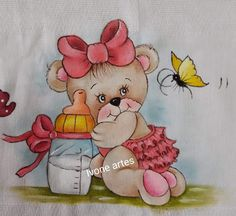 Suzy Figueiredo's media content and analytics Tole Painting, Fabric Painting, Tiger Wallpaper, Arts And Crafts Projects, Diy And Crafts, Welcome Baby Boys, Cute Teddy Bears, Cute Clipart, Art N Craft