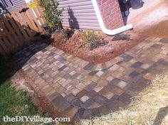 DIY paver outdoor area....complete with how to steps....but still looks like a lot of work....
