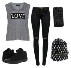 """""""Untitled #8"""" by tumblrlover18 on Polyvore featuring Carmakoma, J Brand, Converse and Yves Saint Laurent"""