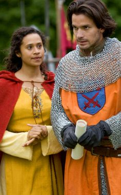 Gwen and Lancelot Merlin Tv Series, Merlin Cast, Bbc Tv Series, Angel Coulby, Colin Morgan, Historical Fiction, Great Movies, My Eyes, Purple