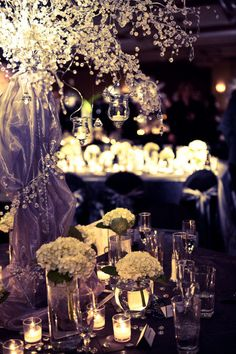 winter wedding decor....If I ever get the privilege of getting married again, this is what I want my tables to look like!