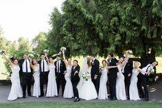 The fun bridal party photo: Bridal Bliss Wedding | Bridalbliss.com | Eugene Wedding | Oregon Event Planning and Design | Amanda K Photography | Blum Floral