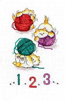 123 Kittens Margaret Sherry Design found@cross-stitch-corner.co.uk/123-kittens-2578-p.asp