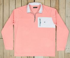 FieldTec™ Dune 1/4 Zip Fleece Pullover - Seersucker. Fall in love with Authentic Southern Class. #SouthernMarsh