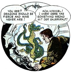 Because, y'know, Chermans ALL eat sauerkraut. (From 'Headline Comics' #10)