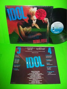 BILLY IDOL Rebel Yell 1983 VINTAGE VINYL LP New Wave Rock w/ EYES WITHOUT A FACE #BillyIdol #NewWave #RockAndRoll