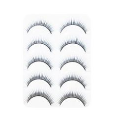 5 Pair Black Handmade Extending Fiber False Eyelashes