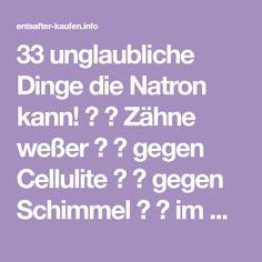 33 unglaubliche Dinge die Natron kann! ★ ☆ Zähne weßer ★ ☆ gegen Cellulite ★ ☆ gegen Schimmel ★ ☆ im Kaffee ★ ☆ Basenbad ★ ☆ gegen viele Krankheiten ★ ☆